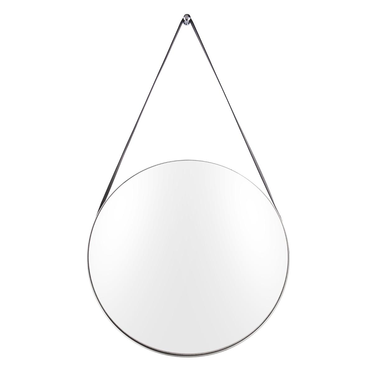 Present Time spejl - Balanced - Børstet stål/Sort