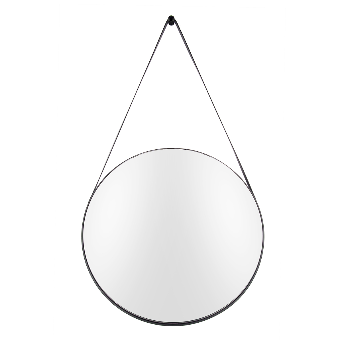 Present Time spejl - Balanced - Stål/Sort