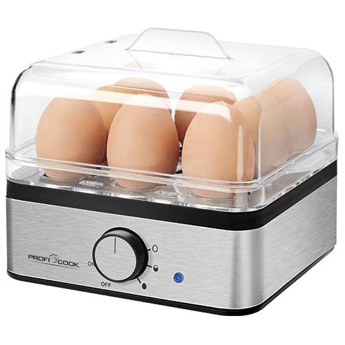 Profi Cook æggekoger til 8 æg - Børstet stål