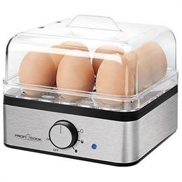 Profi Cook æggekoger til 8 æg – Børstet stål