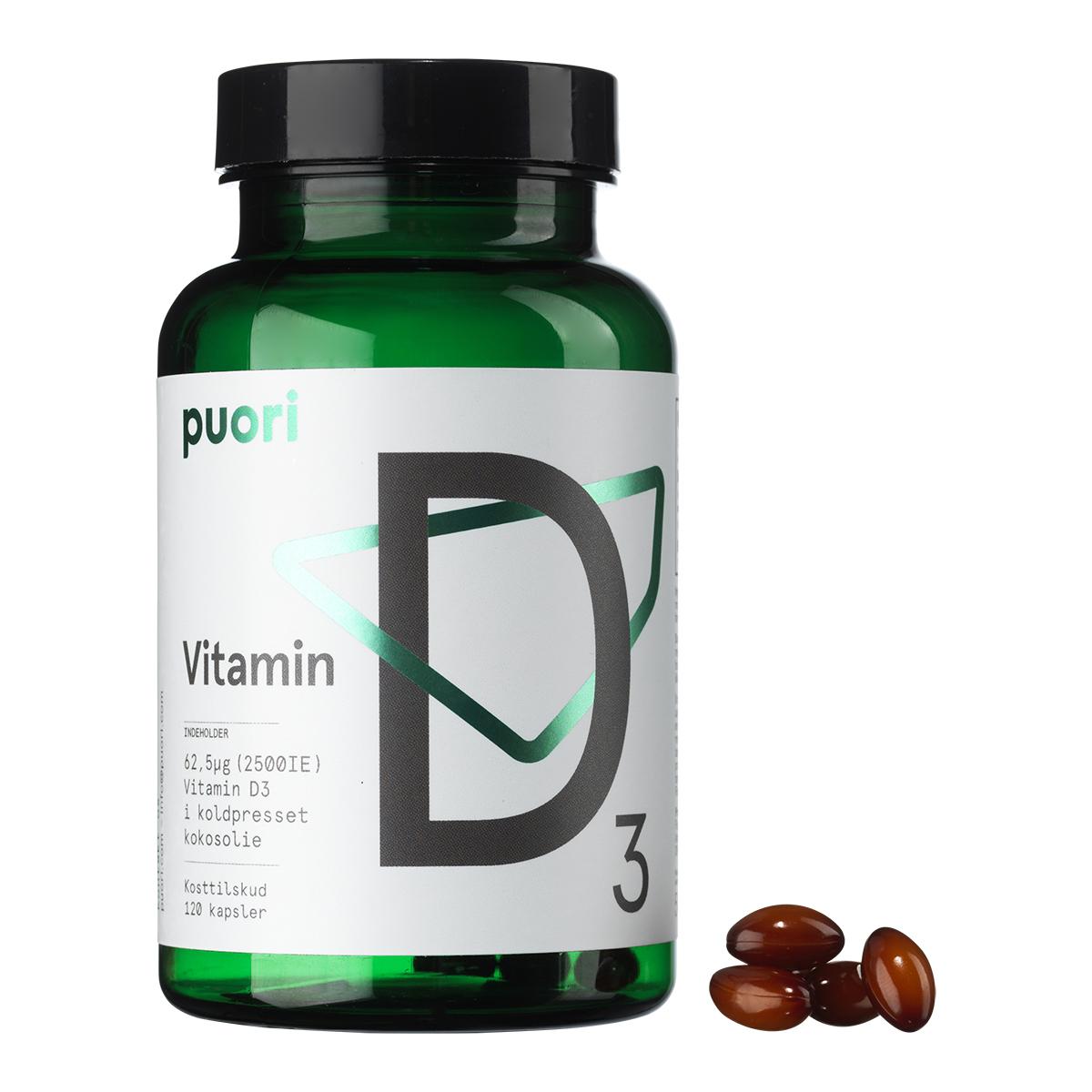 Billede af Puori D3 Vitamin med kokosolie - 120 stk