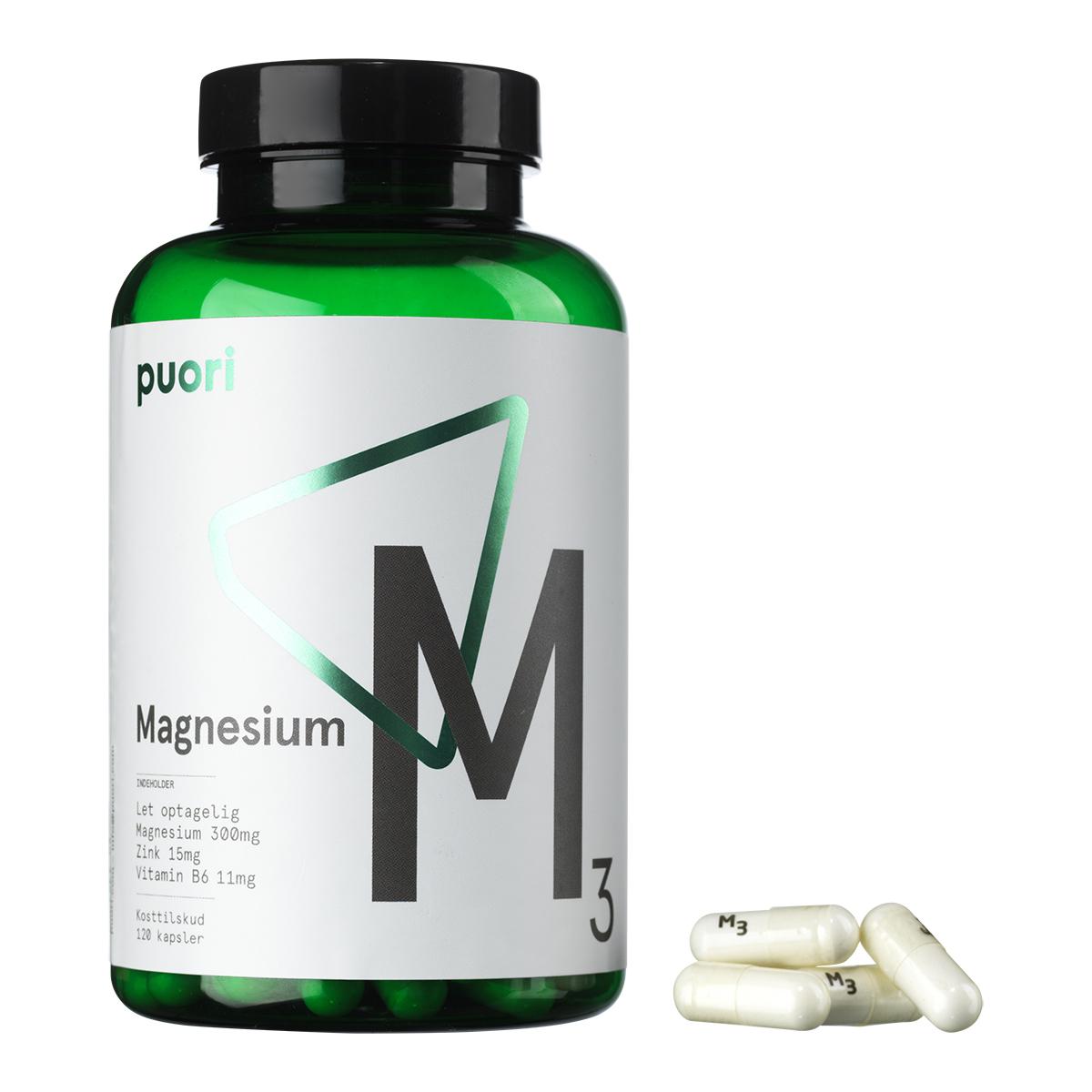 Billede af Puori Magnesium M3 - 120 kapsler