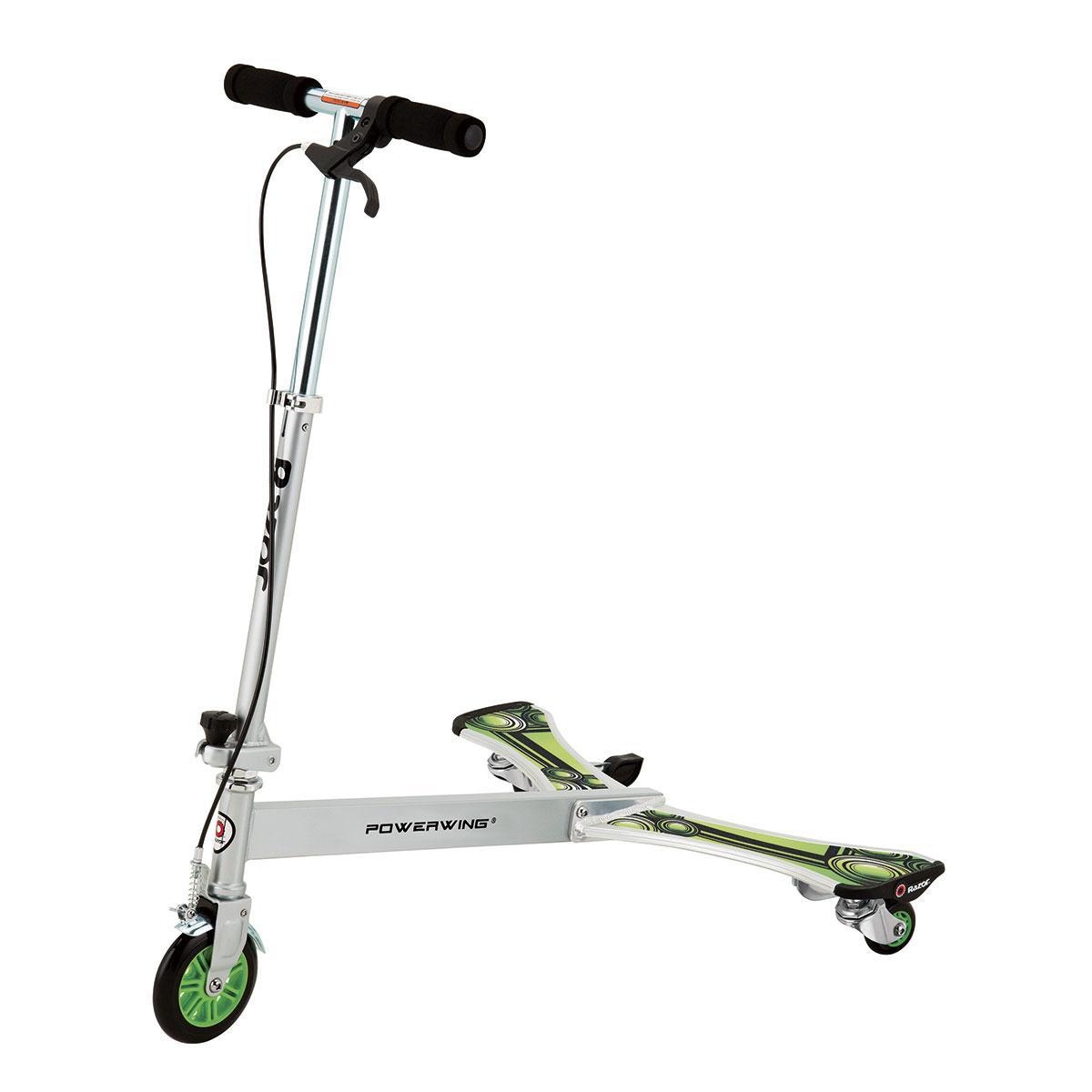 Image of   Razor trehjulede løbehjul - Powerwing DLX - Hvid/grøn