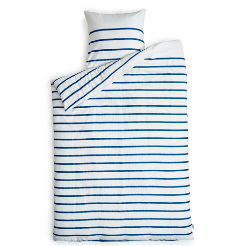 Billede af Redgreen sengetøj - Hvid med blå striber