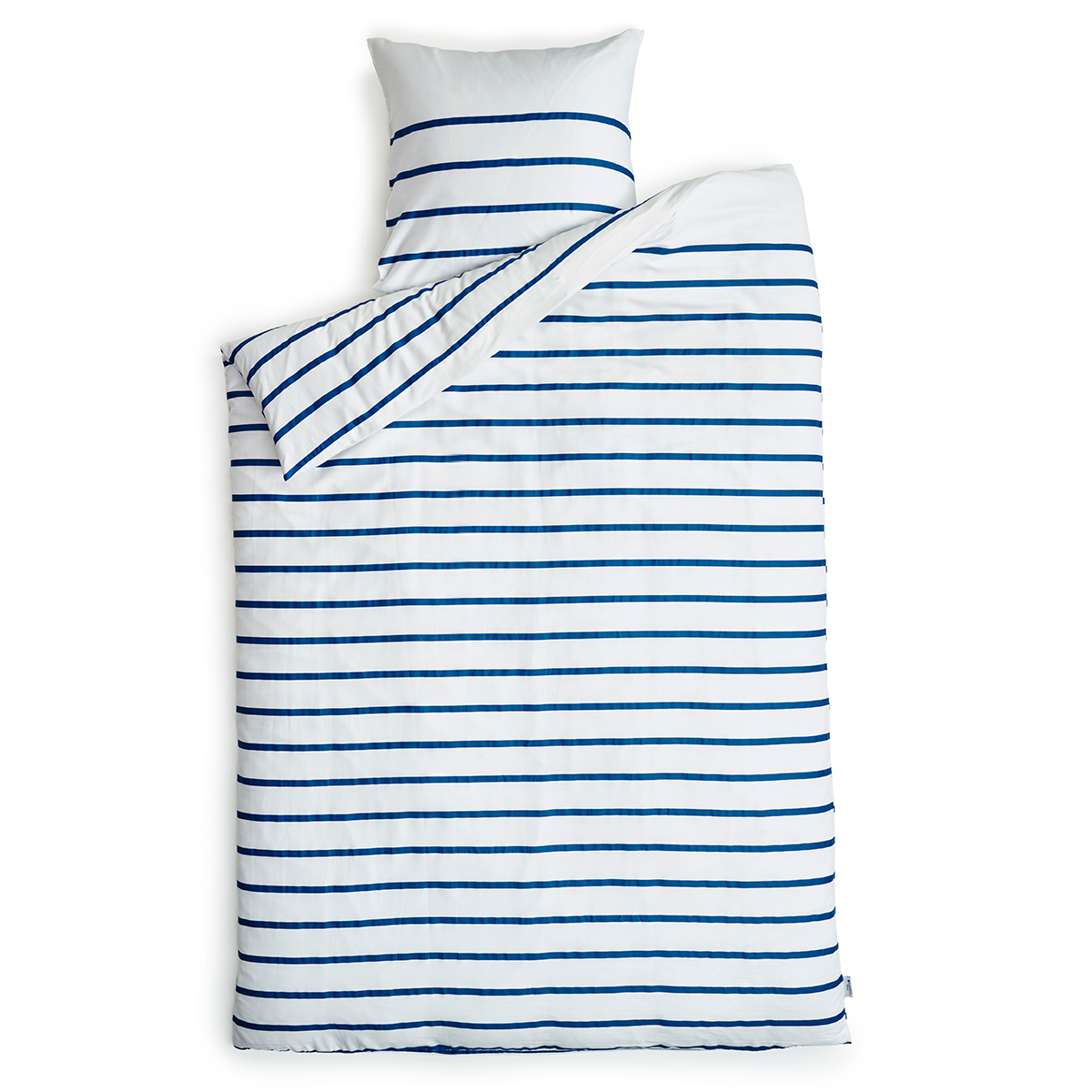 Image of   Redgreen sengetøj - Hvid med blå striber
