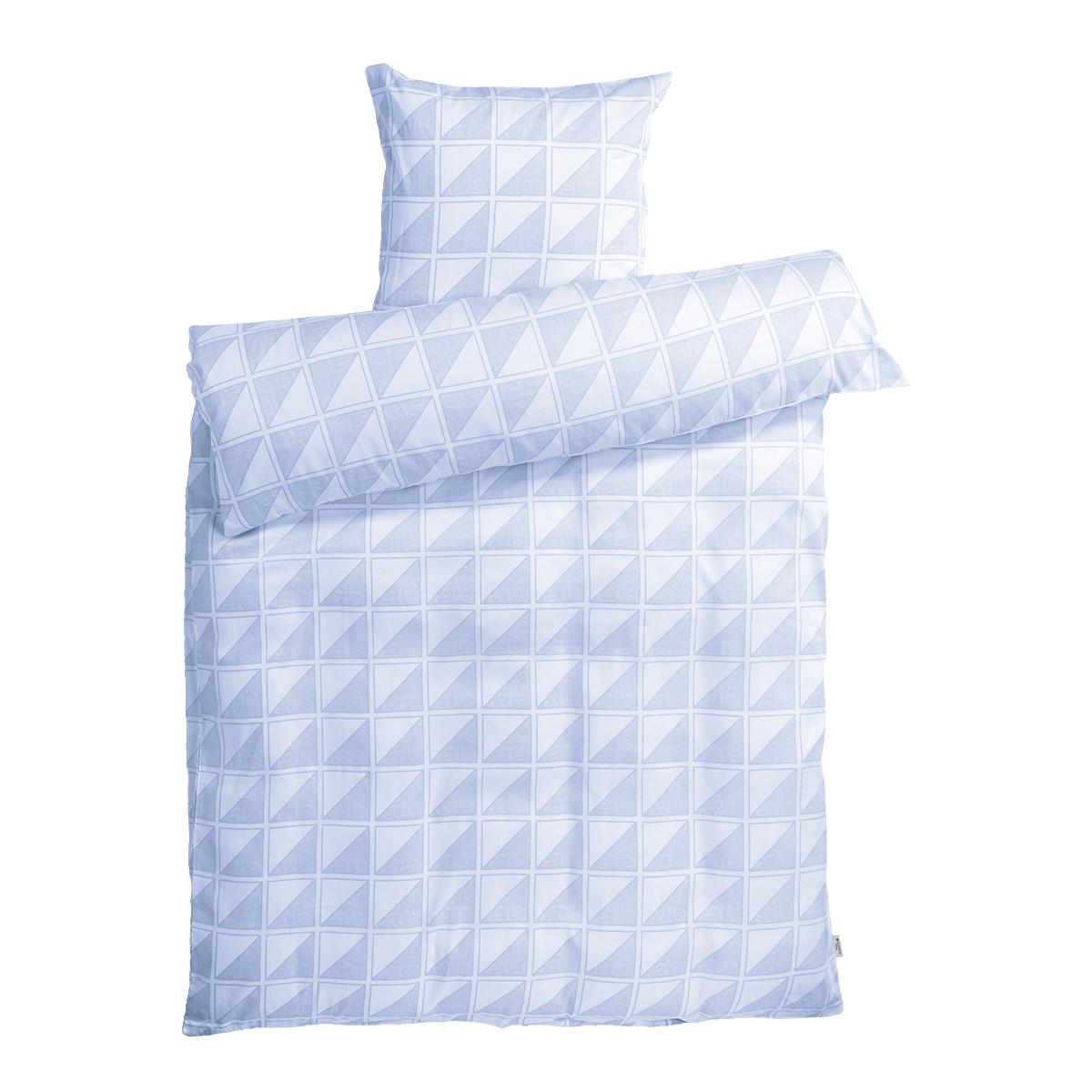 Image of   Redgreen sengetøj - Hvid og lyseblå