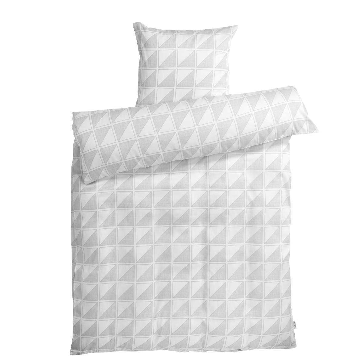 Redgreen sengetøj - Hvid og lysegrå