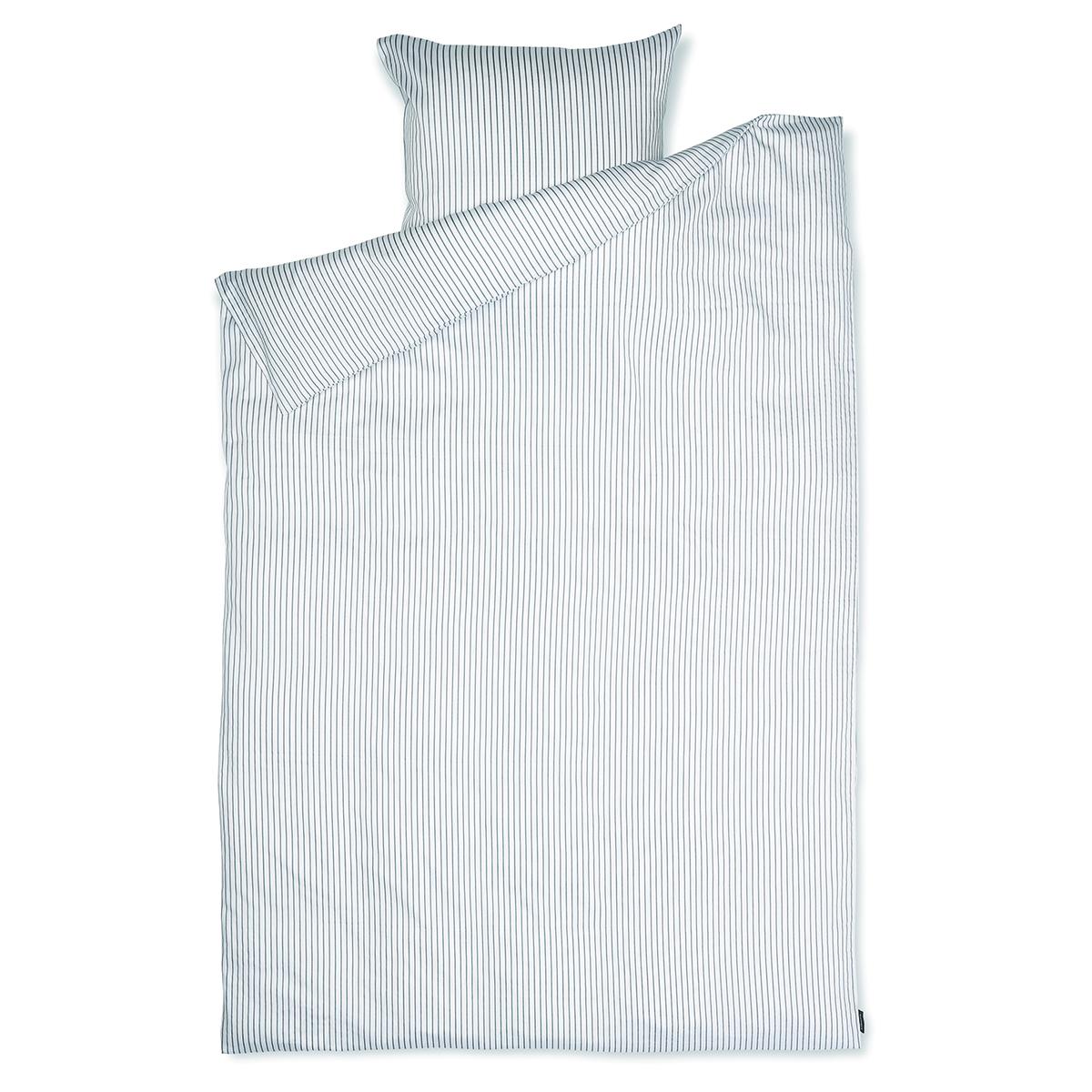 Image of   Redgreen sengetøj - Hvide og dueblå striber