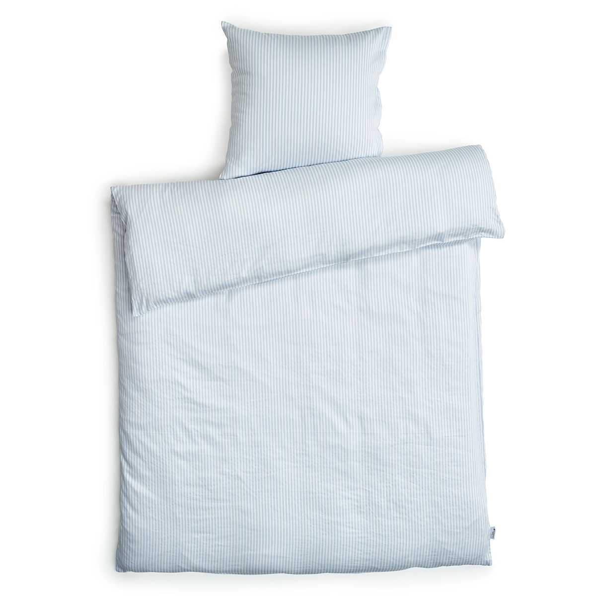 Image of   Redgreen sengetøj - Lyseblå og hvide striber