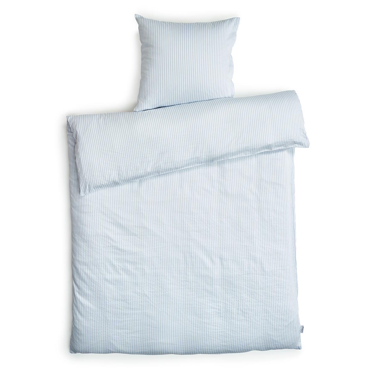 5e6c893bde0 Redgreen sengetøj - Lyseblå og hvide striber Bomuldssatin - 140 x 200 cm -  Coop.dk