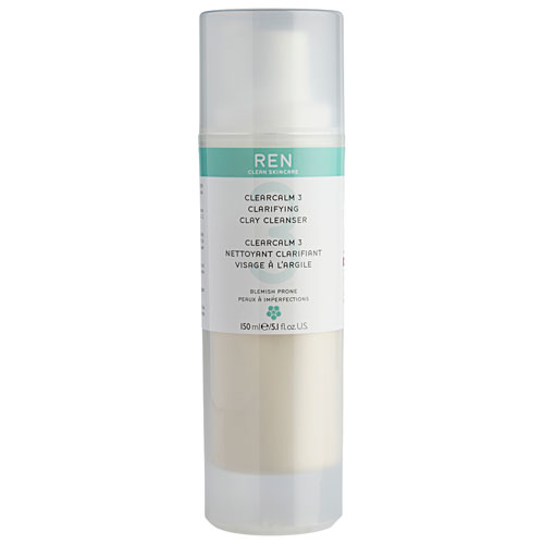REN Clearcalm 3 Clarifying Clay Cleanser - 150 ml Anti-bakteriel ansigtsrens til normal hud
