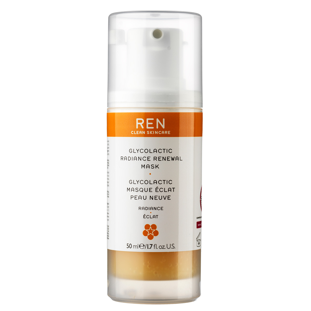 Image of   REN Glycolactic Radiance Renewal Mask - 50 ml