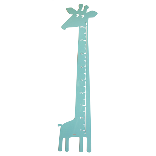 Image of   Roommate højdemåler - Giraf - Pastelblå