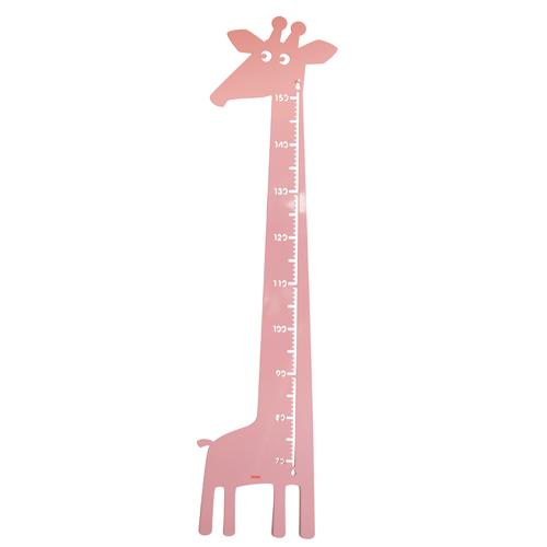 Image of   Roommate højdemåler - Giraf - Rosa