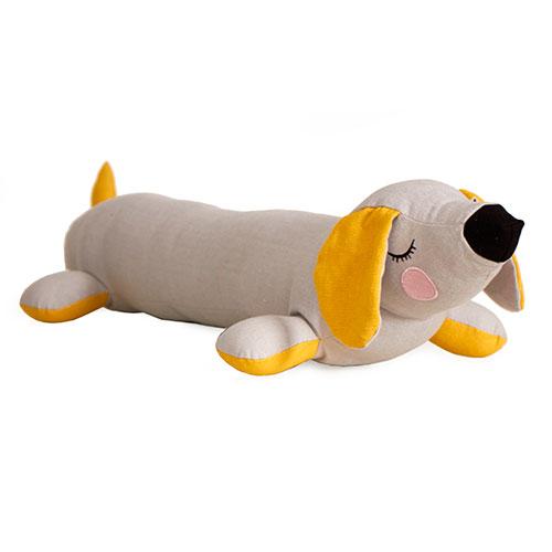 Billede af Roommate krammepude - Lazy Puppy - Grå/okker