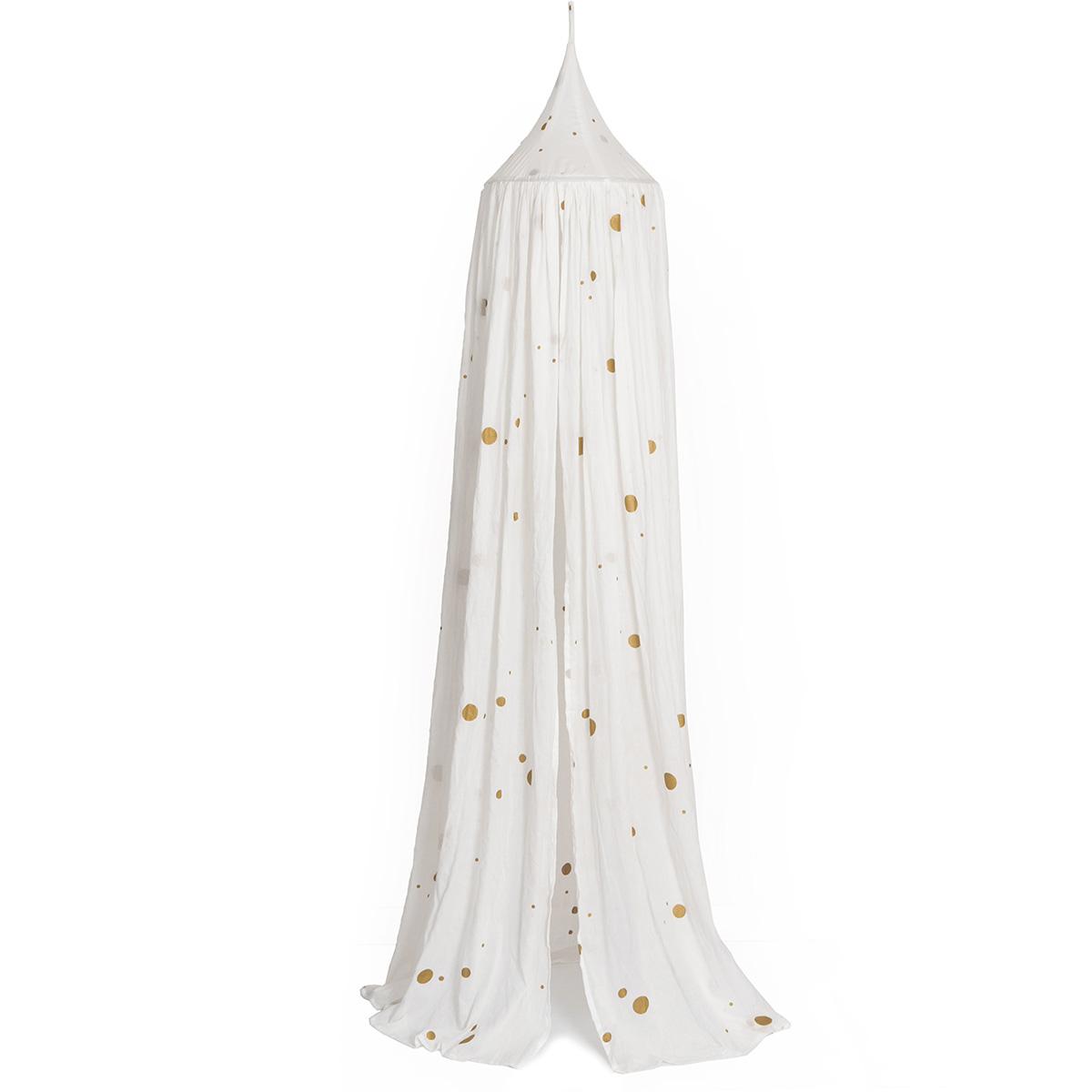 Image of   Roommate sengehimmel - Canopy Golden Dots - Hvid/guld