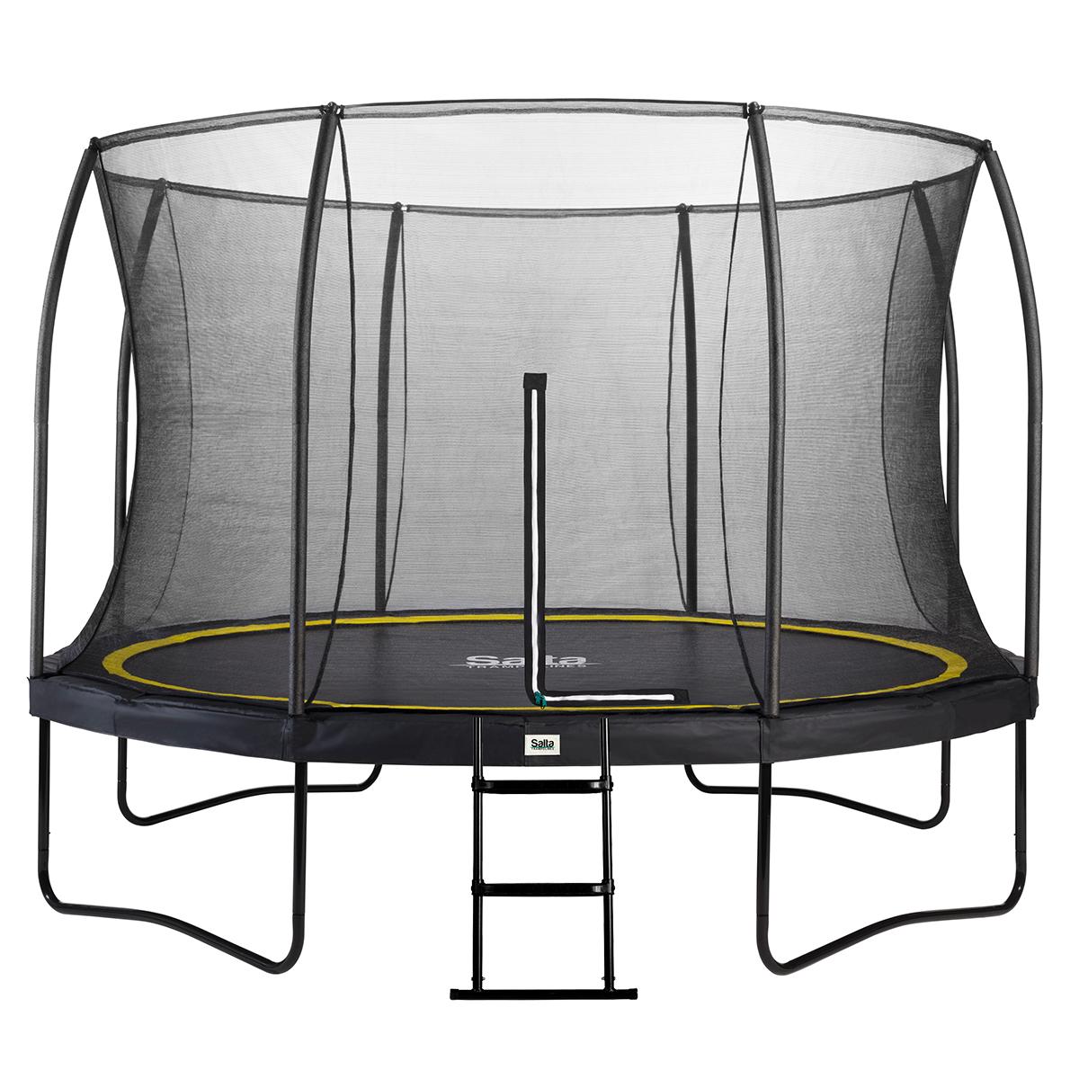 Ny Salta trampolin med net - Comfort - Ø 396 cm Inkl. stige TQ55