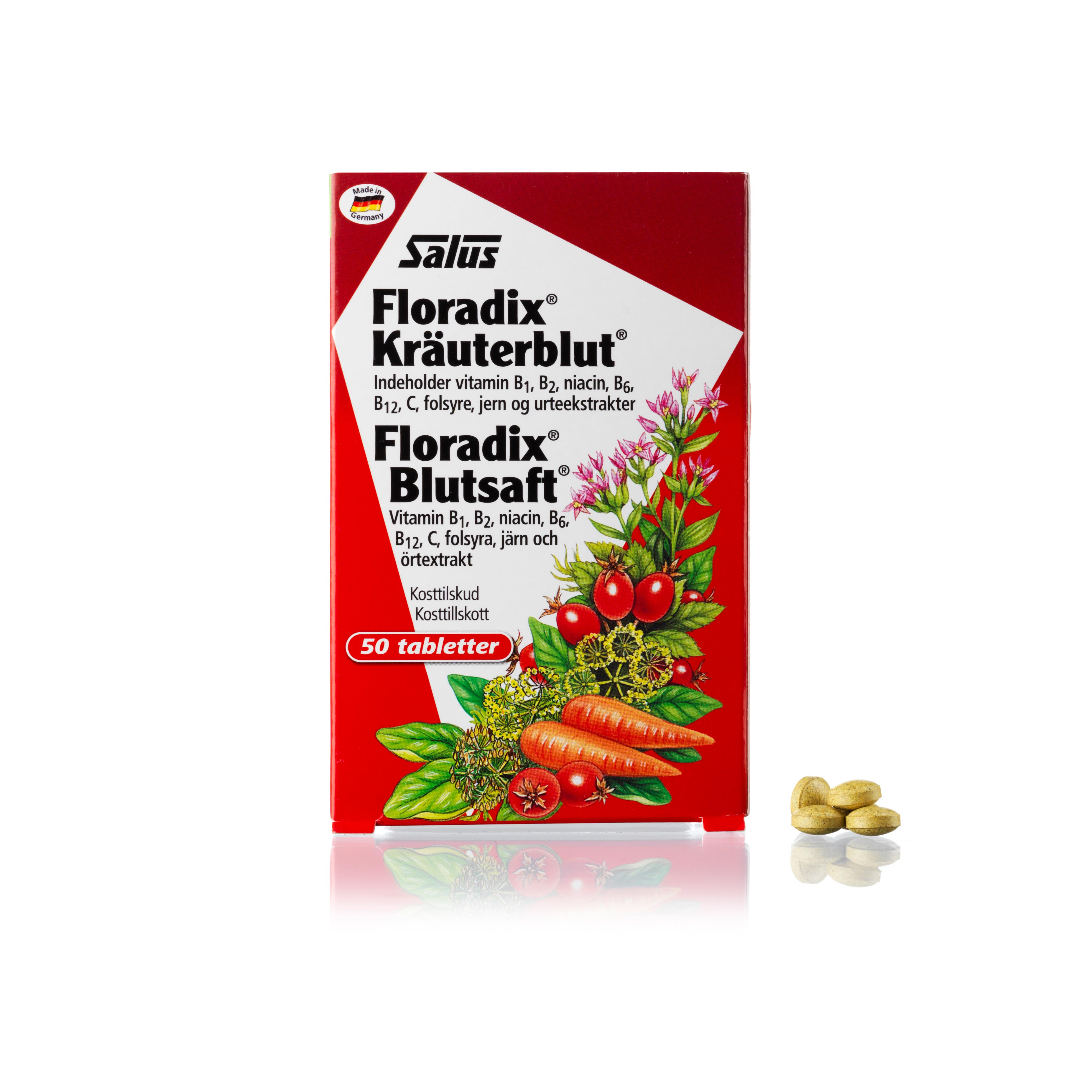Billede af Salus Floradix Kräuterblut - 50 stk.