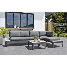 ScanCom loungesæt inkl. hynder - Catarina - Grå/natur
