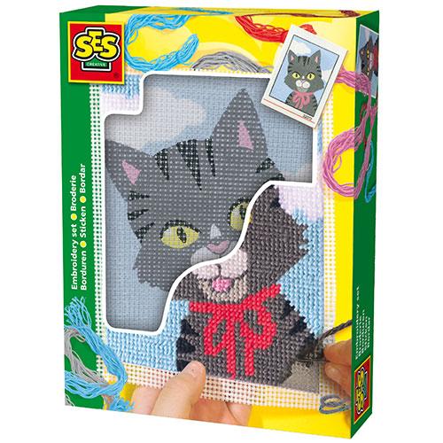 Image of   SES Creative broderisæt med kat