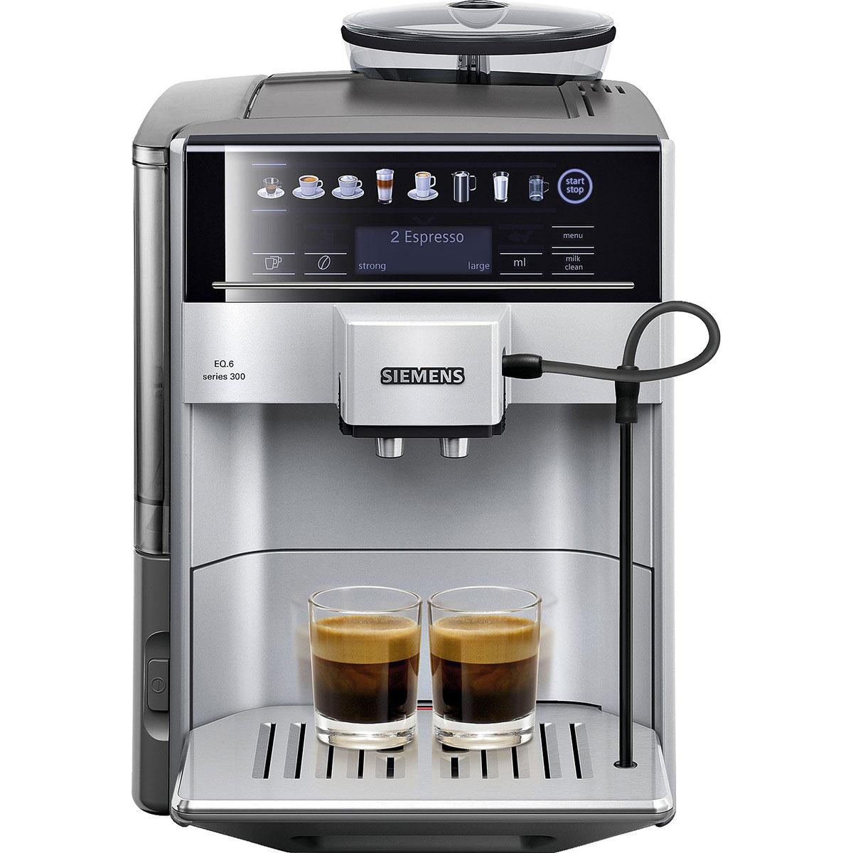 Image of   Siemens espressomaskine - TE603201RW - Stål/sort