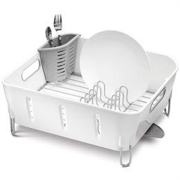 Simplehuman Plastic Compact Dishrack Dish Drainer - White