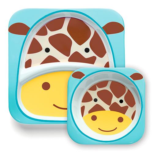 Image of   Skip Hop tallerkensæt - Zoo - Giraf