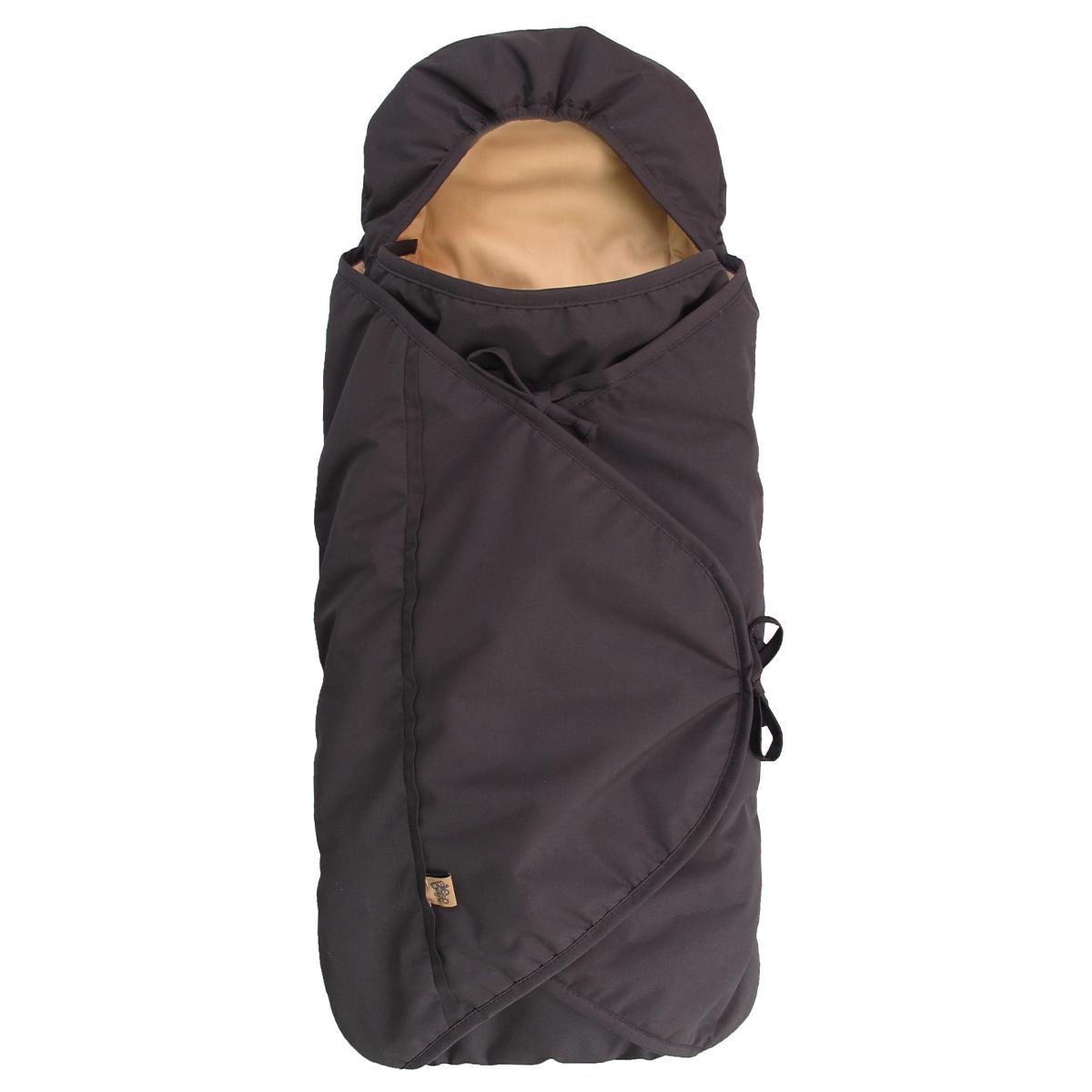 Image of   Sleepbag kørepose til autostolen - Bycar - Sort/brun
