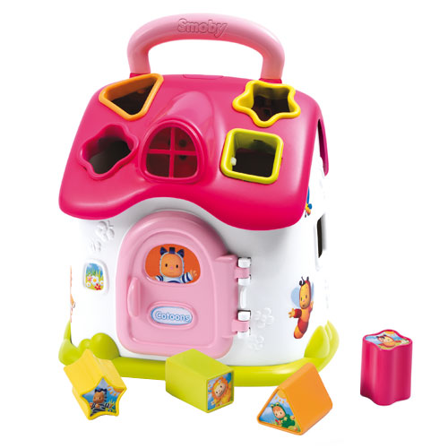 Image of   Smoby puttekasse hus - Cotoons Shape Sorter House - Pink