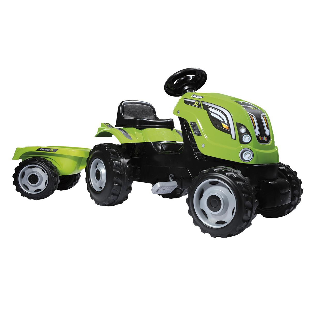 Billede af Smoby traktor med anhænger - Grøn