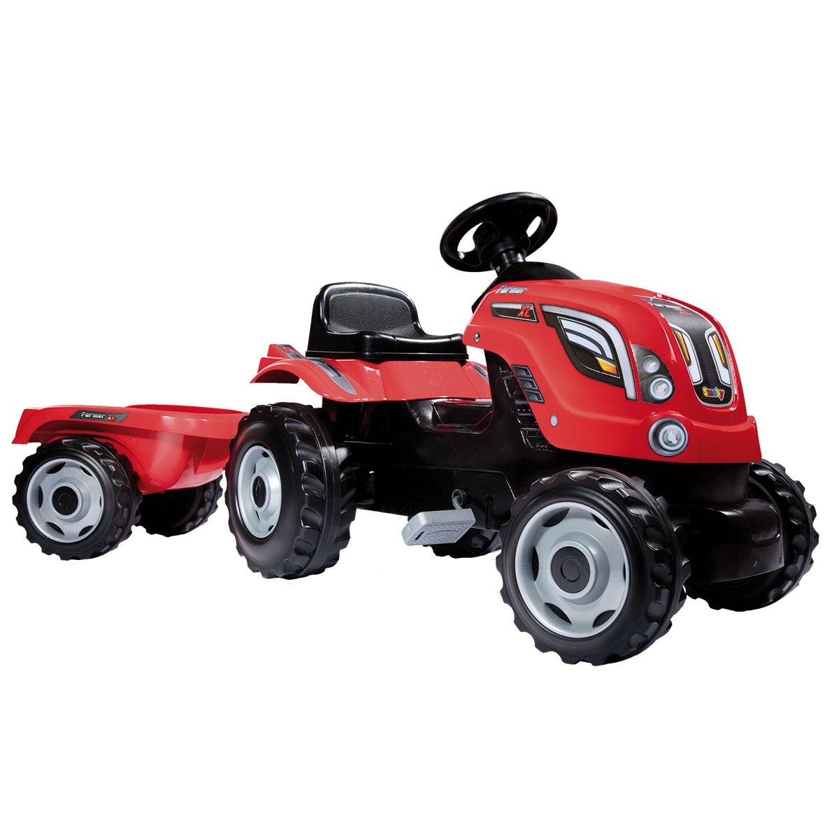 Billede af Smoby traktor med anhænger - Rød