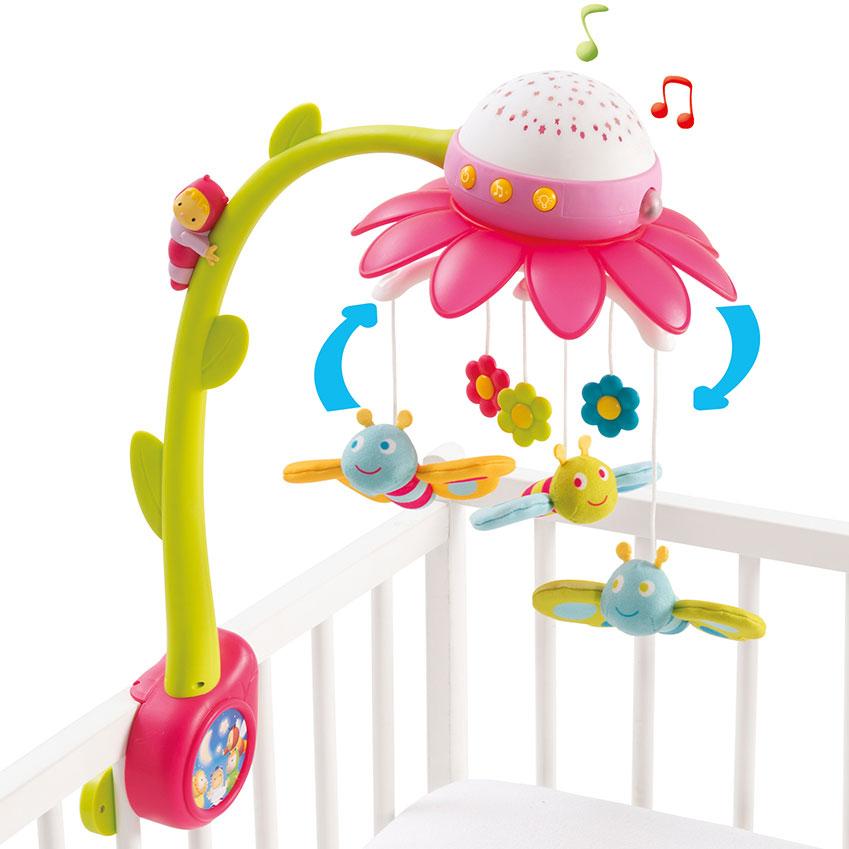 Billede af Smoby uro med musik - Cotoons Flower Mobile - Lyserød