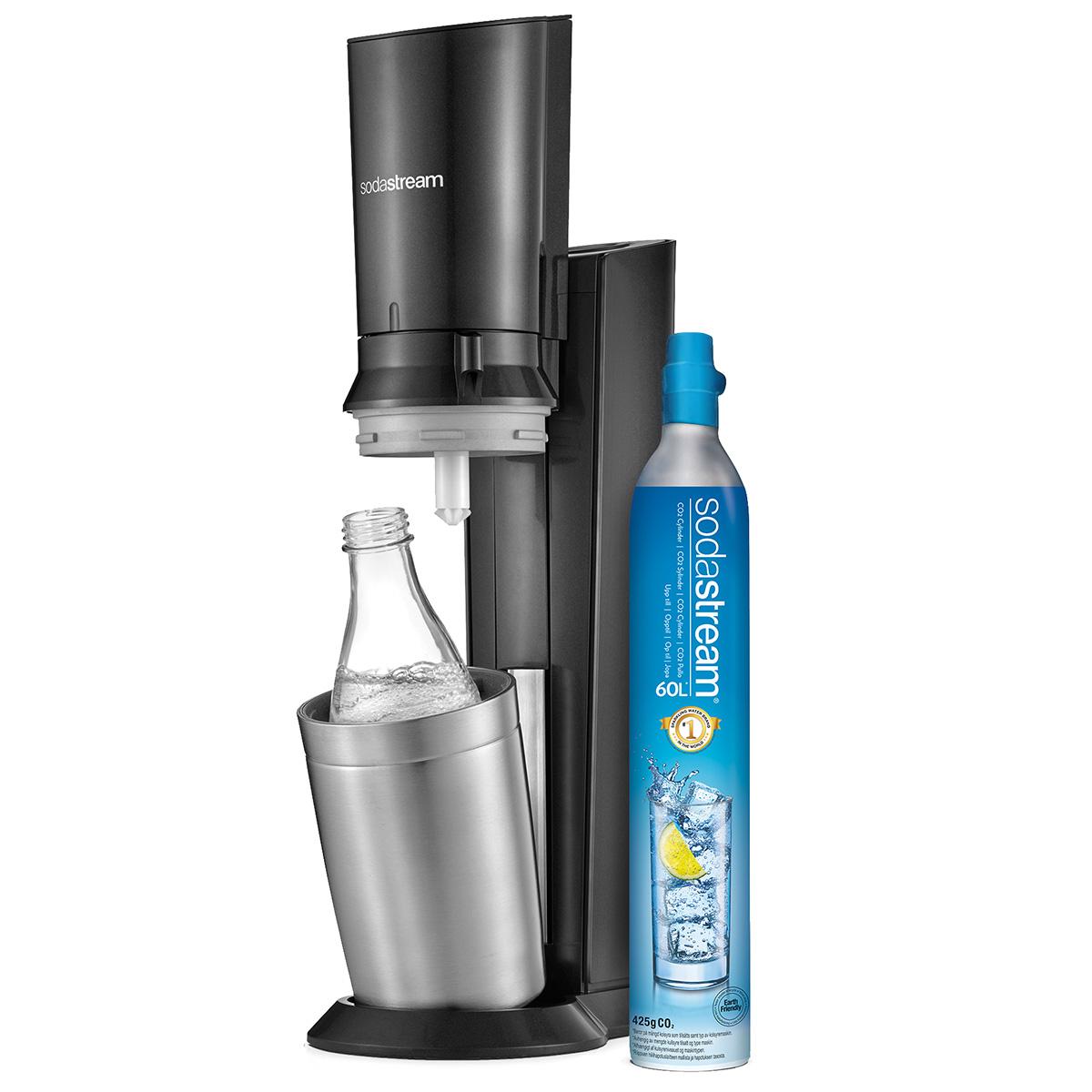 SodaStream sodavandsmaskine - Crystal - Metal Black