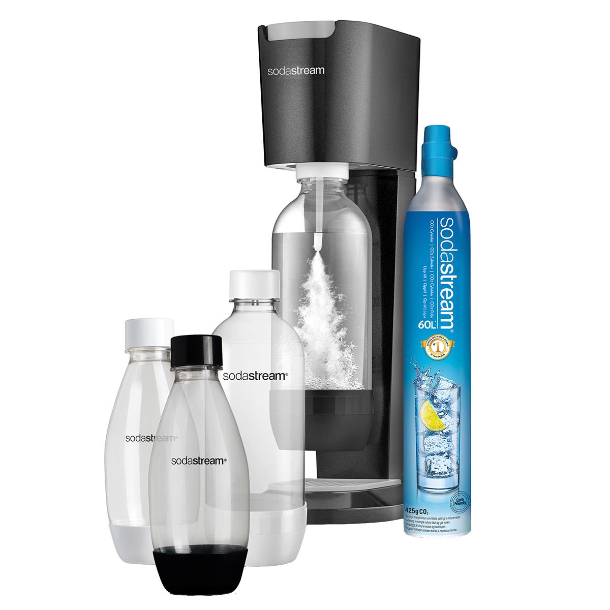 SodaStream sodavandsmaskine - Genesis Mega Pack -Titan Silver