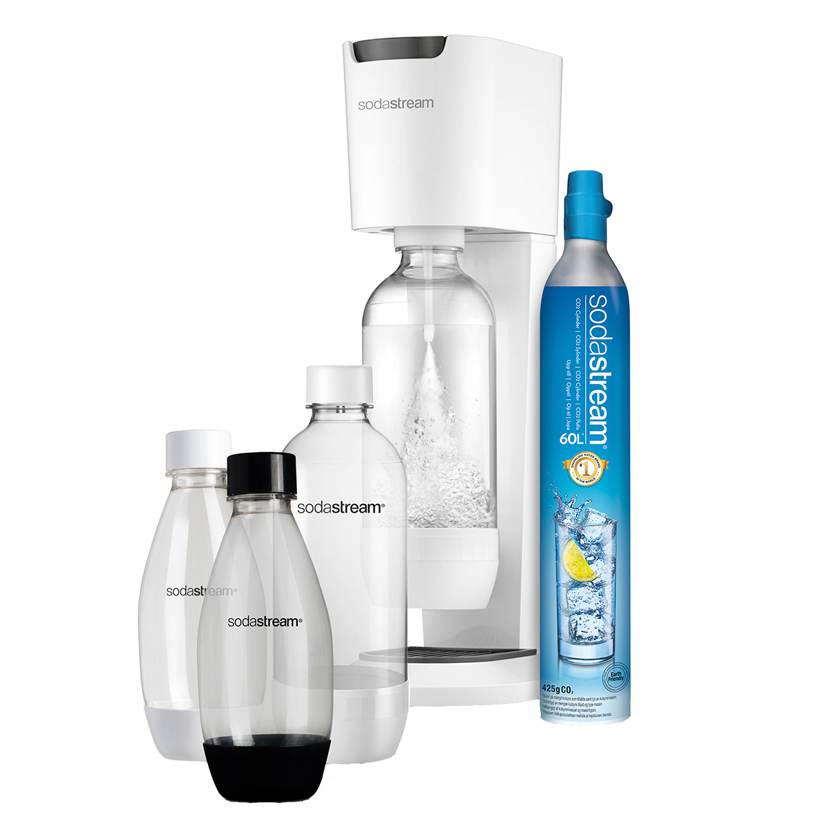 Sodastream sodavandsmaskine - Genesis Mega Pack - White Grey