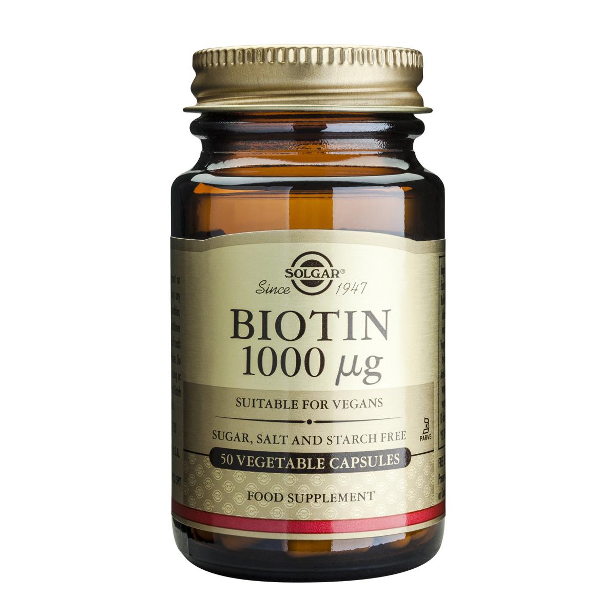 Billede af Solgar Biotin - 1000 mcg - 50 stk.