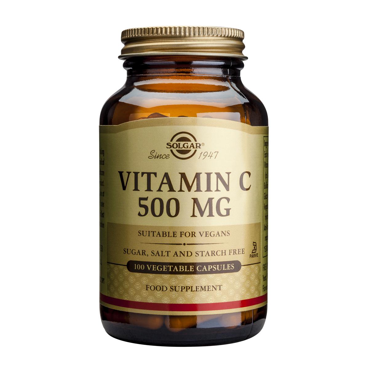 Billede af Solgar C-Vitamin - 500 mg - 100 stk.