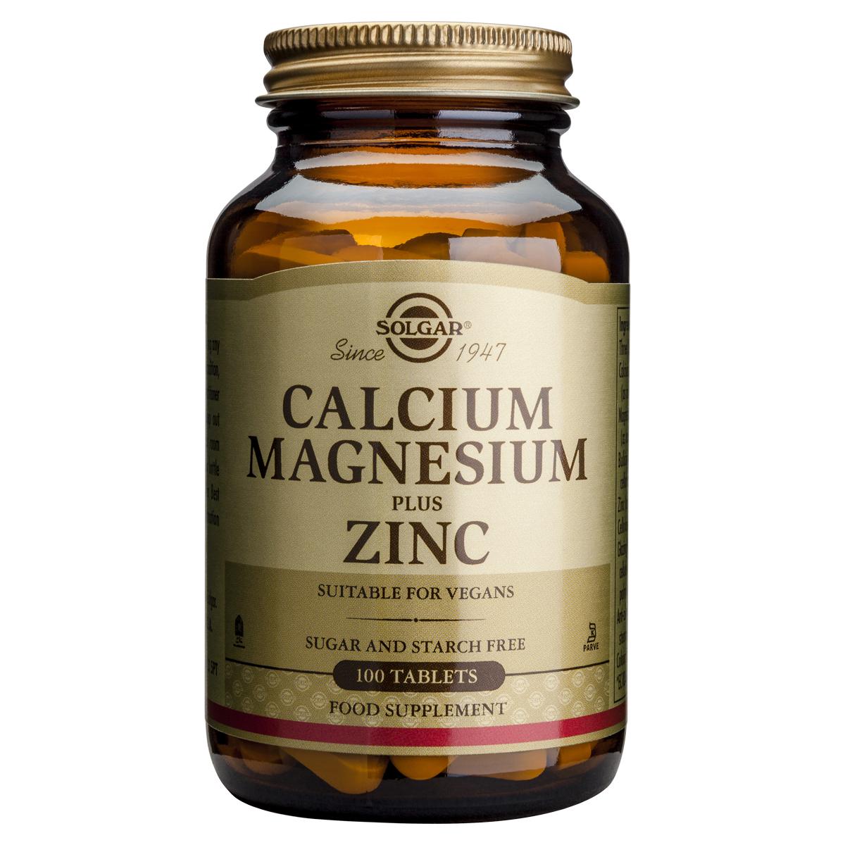 Billede af Solgar Calcium, Magnesium plus Zinc - 100 stk.