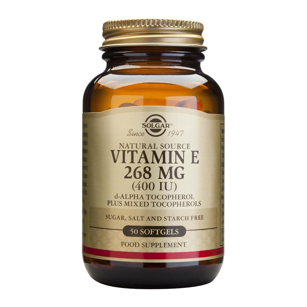 Billede af Solgar E-Vitamin - 268 mg - 50 stk.