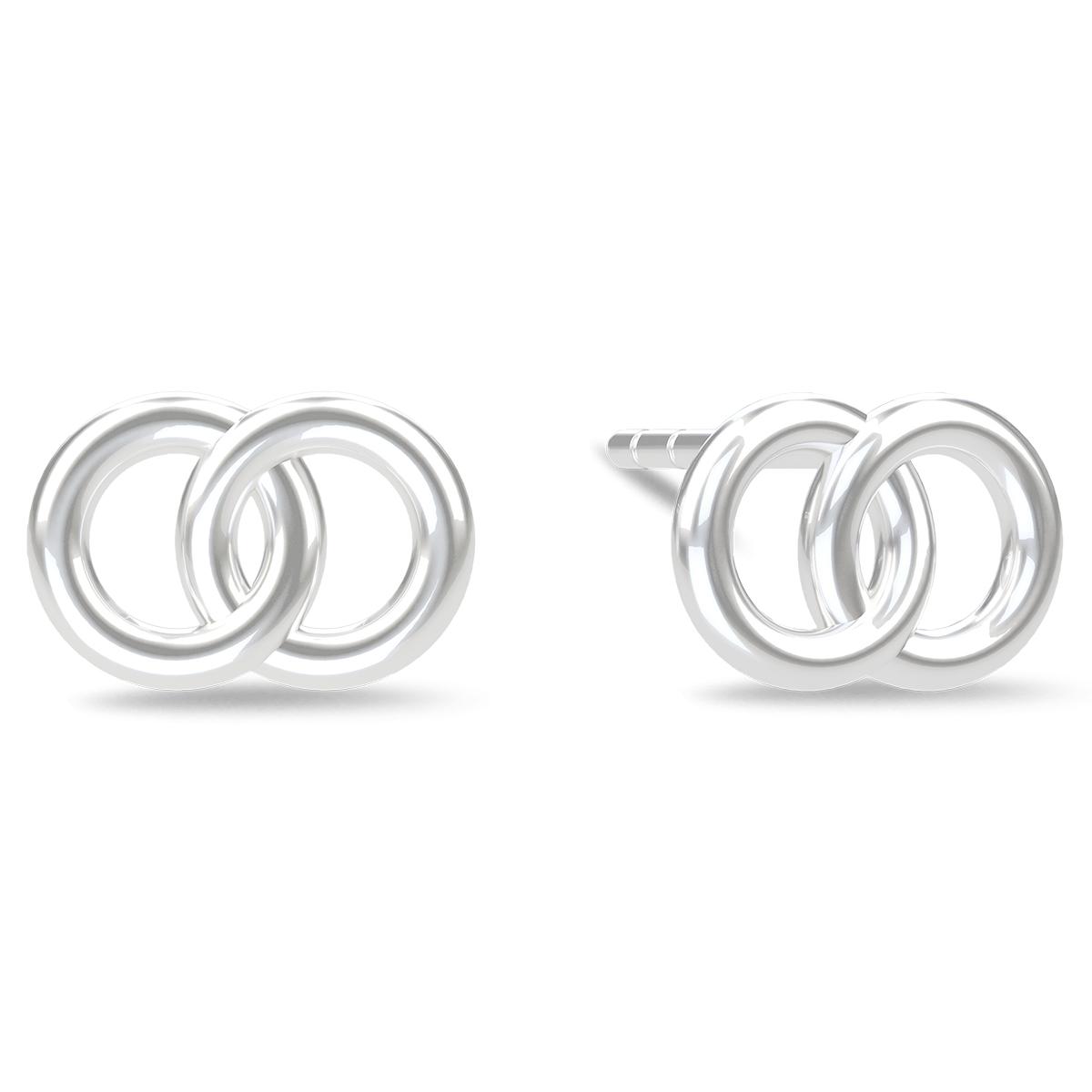 Spinning Jewelry ørestikker - Compassion - Rhodineret sterlingsølv