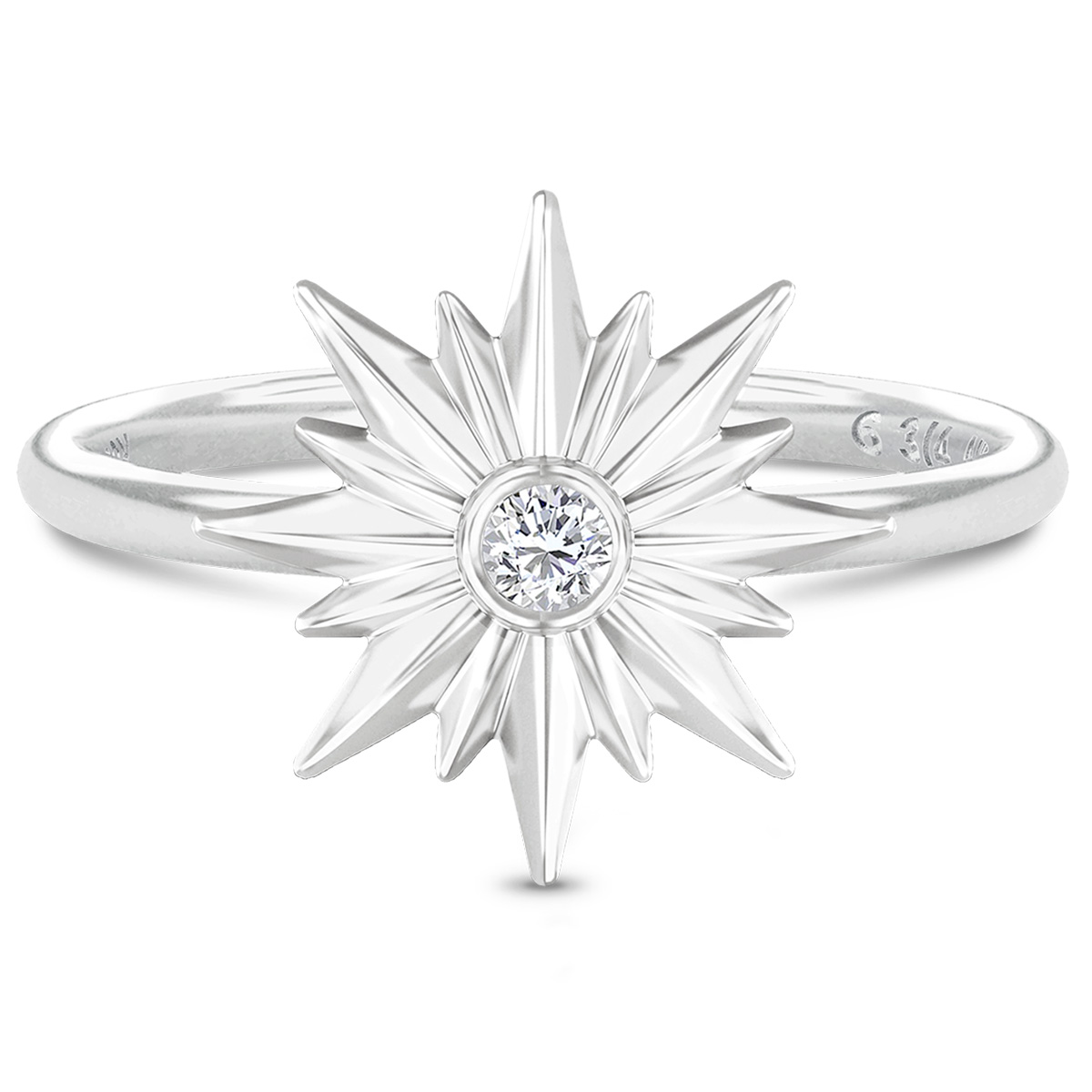 Image of   Spinning Jewelry ring - Aura Energy - Rhodineret sterlingsølv