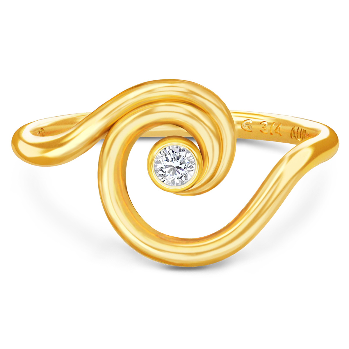 Image of   Spinning Jewelry ring - Aura Power - Forgyldt sterlingsølv