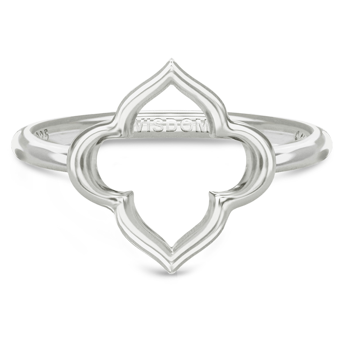 Image of   Spinning Jewelry ring - Aura Wisdom - Rhodineret sterlingsølv
