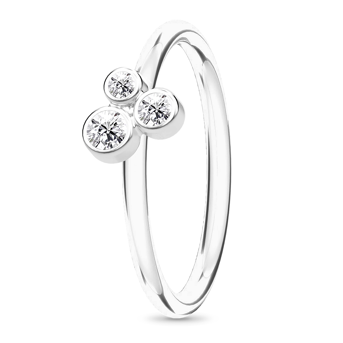Image of   Spinning Jewelry ring - Oasis - Rhodineret sterlingsølv