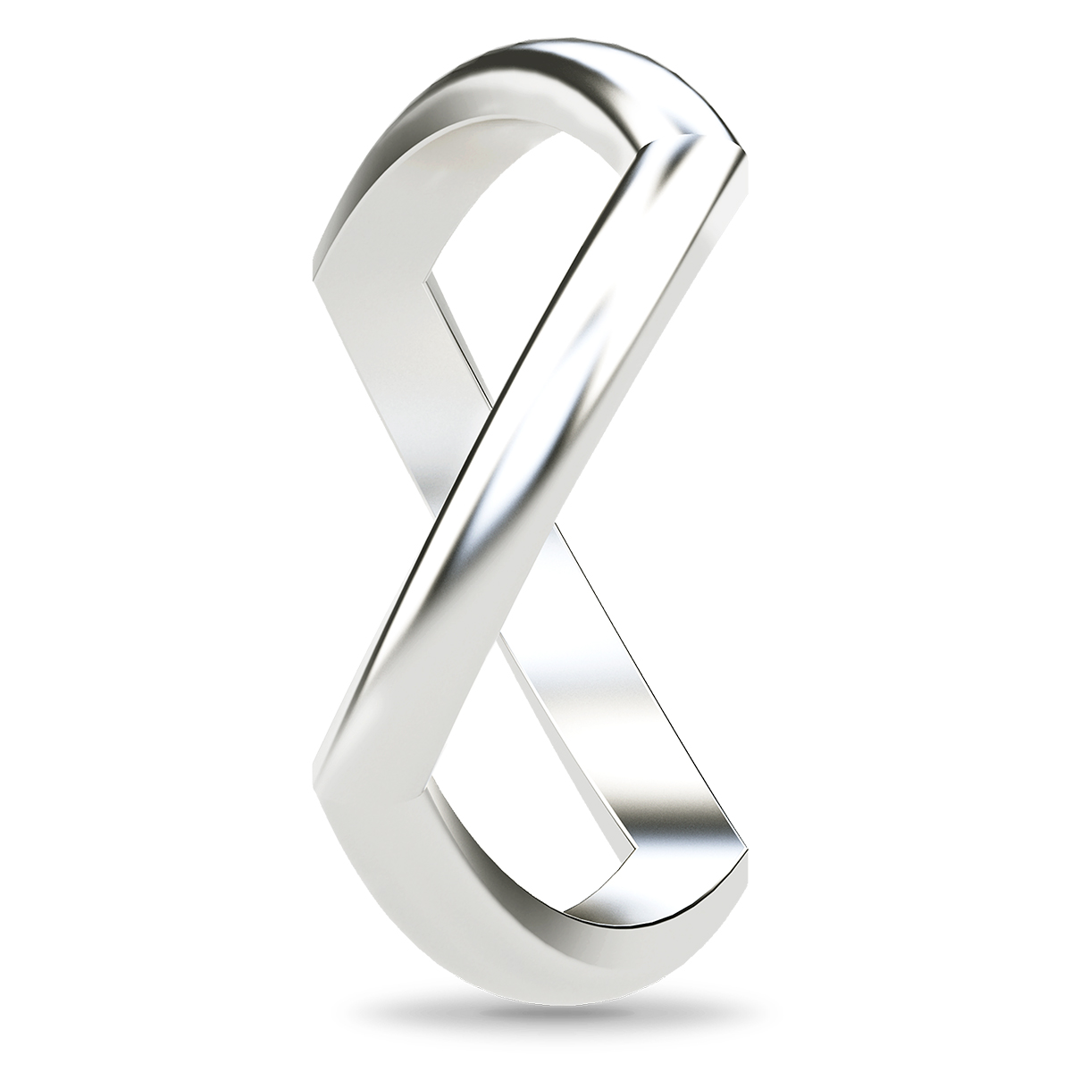 Image of   Spinning Jewelry ring - Path - Rhodineret sterlingsølv