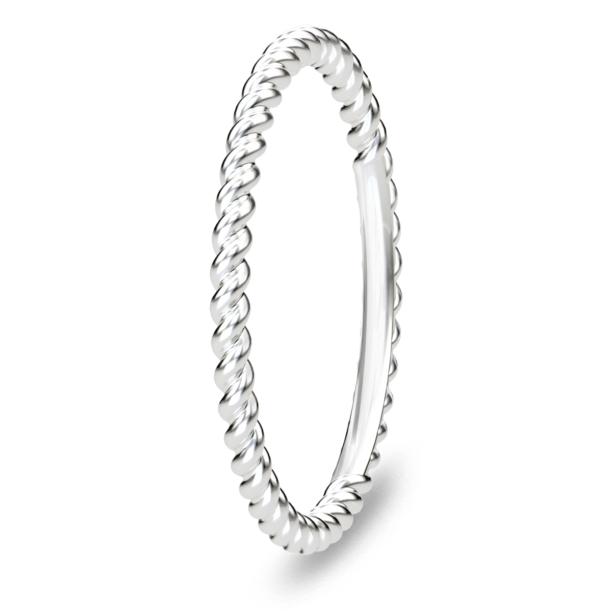 Image of   Spinning Jewelry ring - Twisted - Rhodineret sterlingsølv
