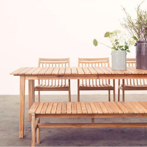 Spisebord c201b – 6 8 personer – natur teak sammen havemøbler i ...