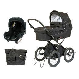 Startpakke BabyTrold barnevogn & Premium autostol