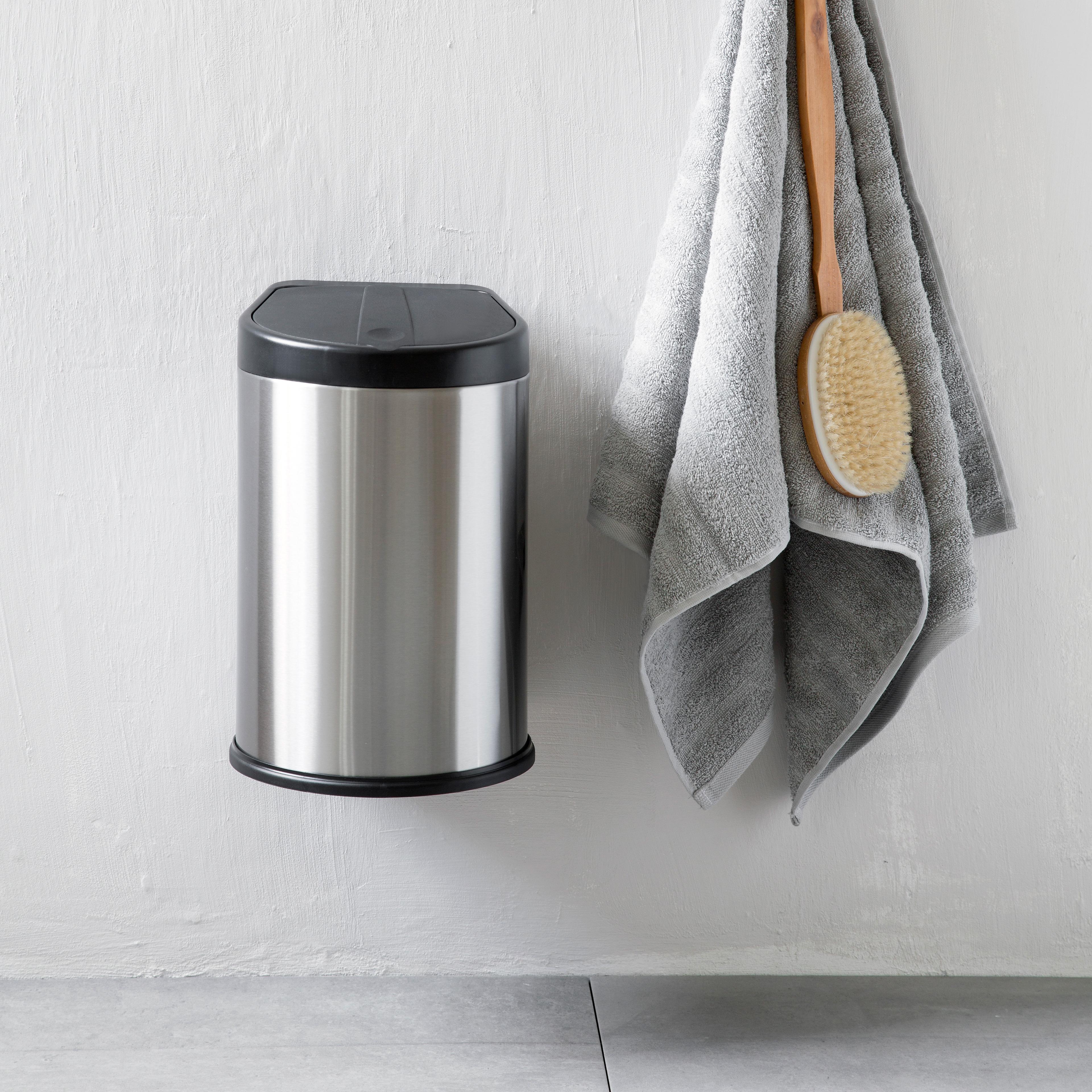 Steel-Function væghængt affaldsspand - Stål/sort