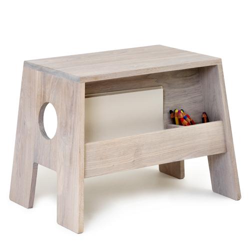 Børneskammel stoolesk fra collect furniture - hvid olieret Änglamark-certificeret